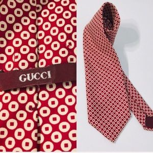 GUCCI design standards neck tie zeta sillk Italy